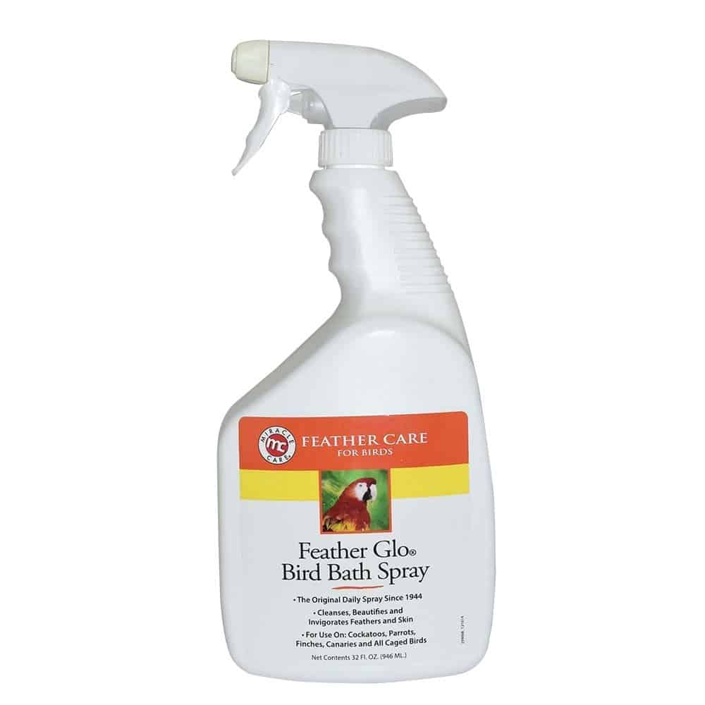Miracle Care Feather Feather Glo Bird Bath Spray