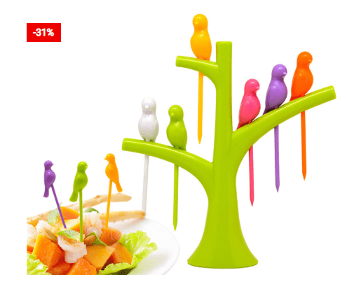 Beautiful Birds Design Fork Set For Your Table