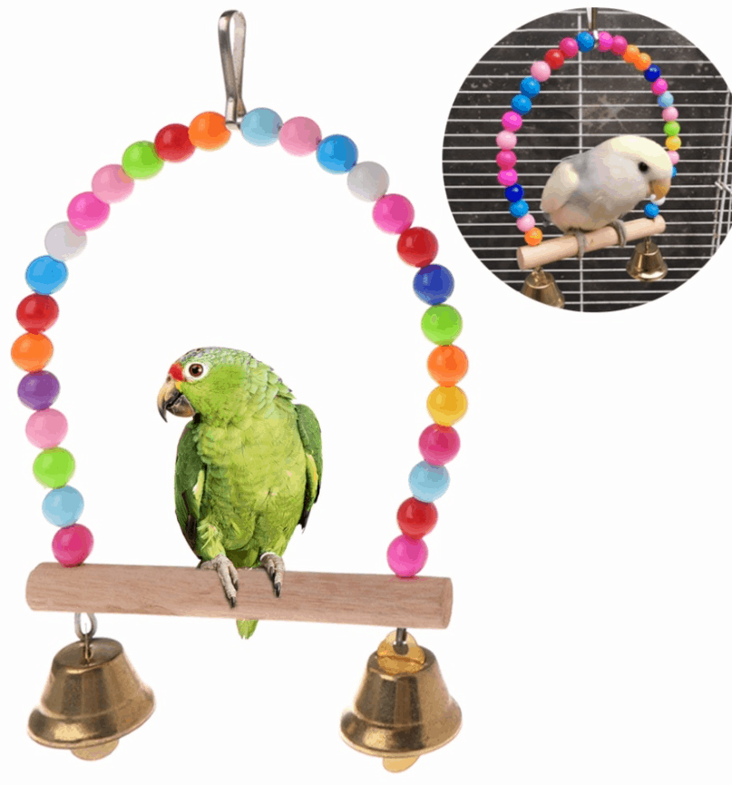Parrot Swing Wooden Hanging Perch